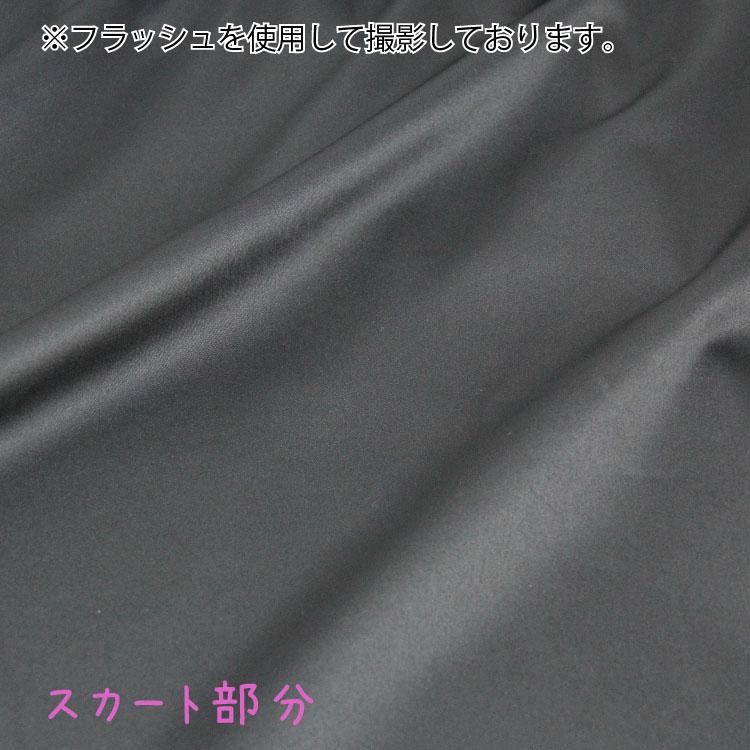 【女の子】キャミソールスリップ 黒/リボン付き 110〜165cm【上部綿100%】