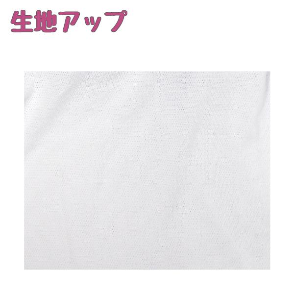 【女の子】キャミソール/モールドカップ付き 2枚組 白/裾ラメ入りプリント 140〜165cm【吸水速乾・メッシュ素材】