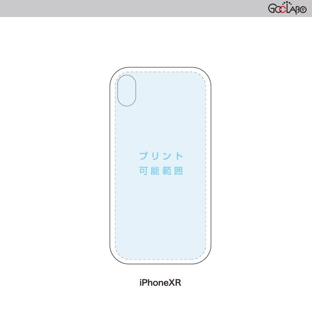 <箔プリント>iPhone XR用ハードケース(黒)