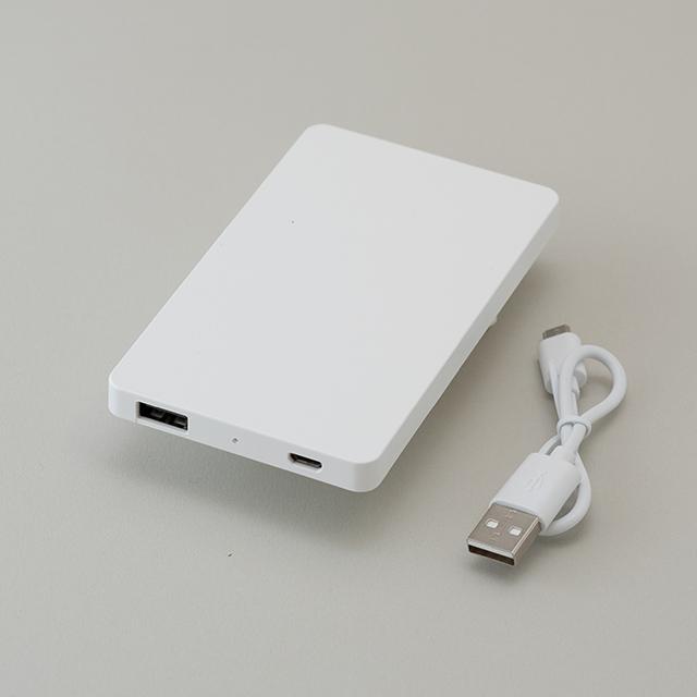 モバイルバッテリー 4000mAh (白ボディ)