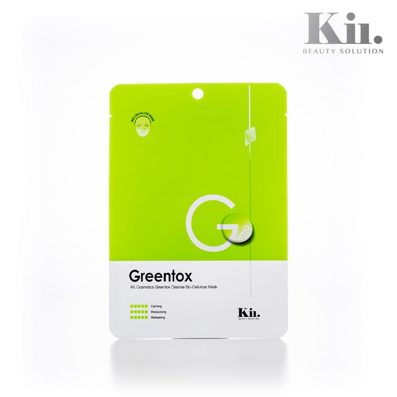 【KII COSME】クレンズトックスマスクパック グリーントックス 1枚