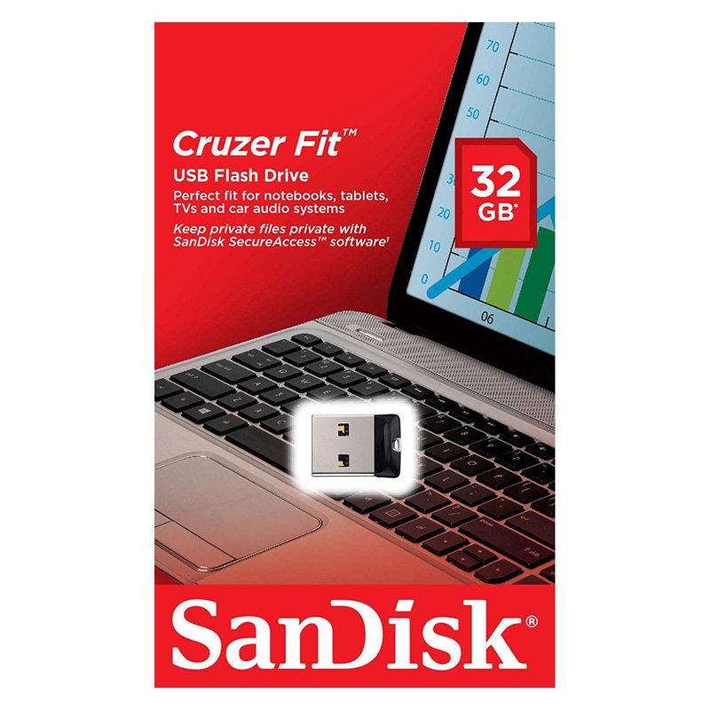 サンディスク・超小型32GB【USBメモリSDCZ33-032G-G35】Cruzer Fit