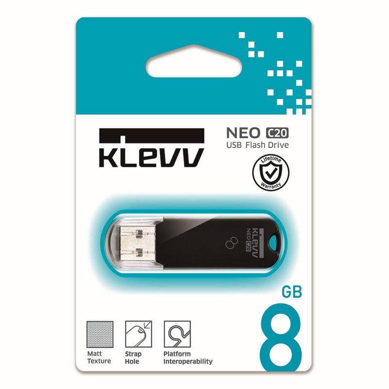 メーカー永久保証 8GB【USBメモリK008GUSB2-C2】Hynix系KLEVVブランド・キャップ付き
