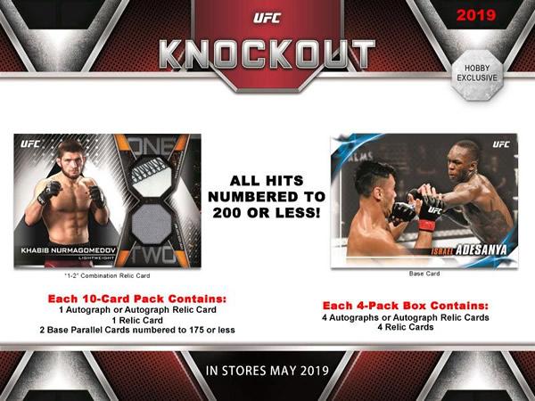 2019 TOPPS UFC KNOCKOUT