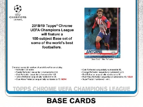2018/19 TOPPS UEFA CHAMPIONS LEAGUE CHROME BOX