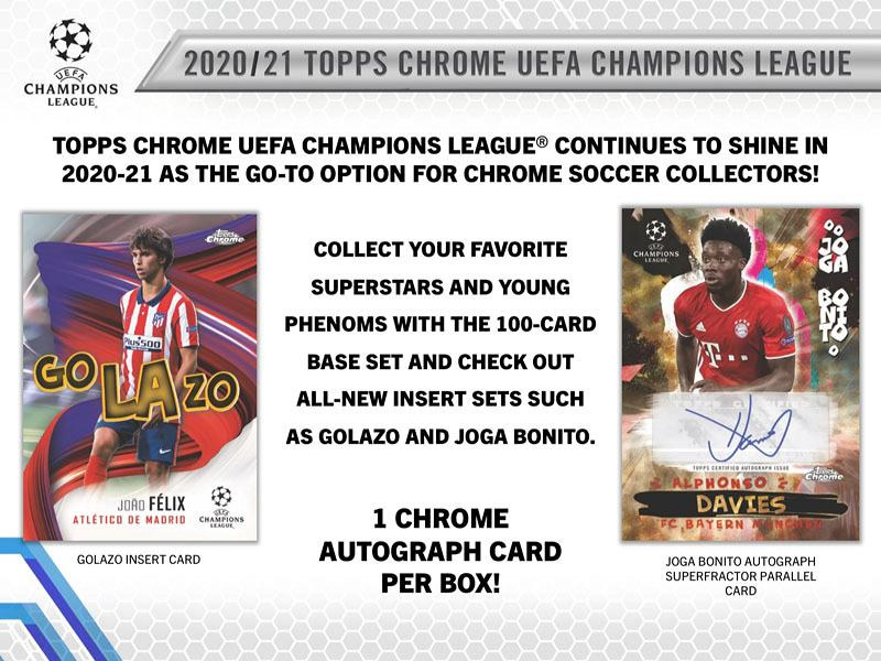 2020-21 TOPPS UEFA CHAMPIONS LEAGUE CHROME HOBBY BOX