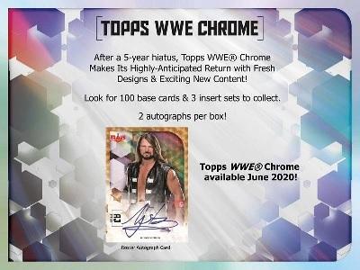 WWE 2020 TOPPS CHROME BOX