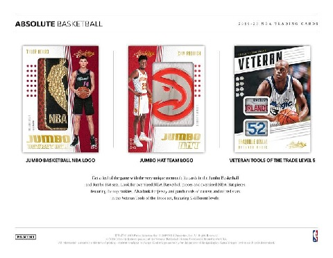 NBA 2019/2020 PANINI ABSOLUTE MEMORABILIA BASKETBALL BOX