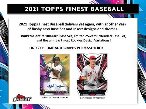 MLB 2021 TOPPS FINEST BASEBALL BOX
