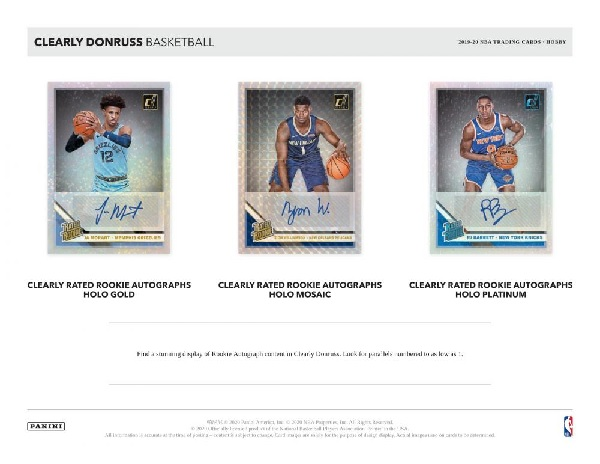 NBA 2019/20 CLEARLY DONRUSS BASKETBALL BOX