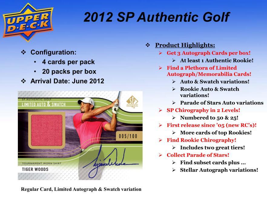 GOLF 2012 SP AUTHENTIIC トレーディングカード