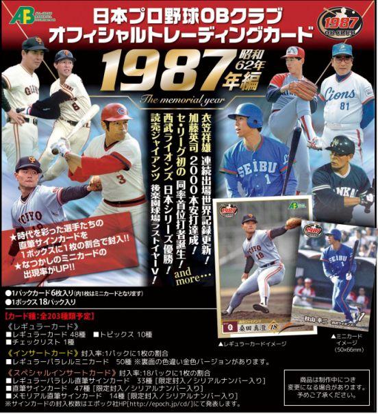 日本プロ野球OBクラブ オフィシャルトレーディングカード 1987年編