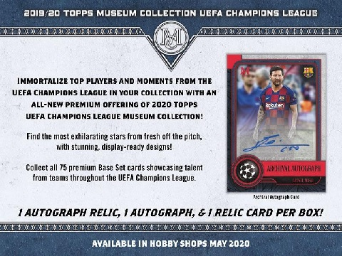 2019/20 TOPPS UEFA CHAMPIONS LEAGUE MUSEUM COLLECTION