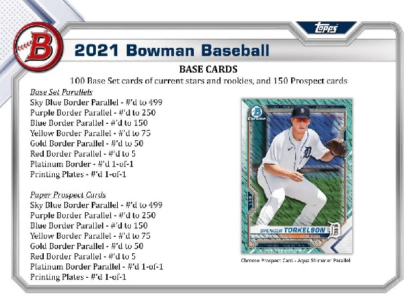 MLB 2021 BOWMAN BASEBALL JUMBO BOX