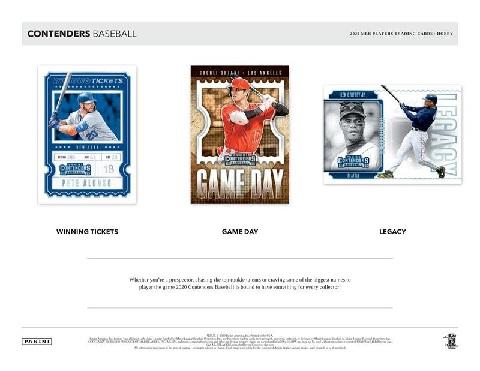 MLB 2020 PANINI CONTENDERS BASEBALL BOX