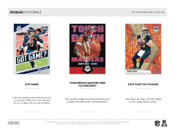 NFL 2020 PANINI MOSAIC FOOTBALL BLASTER BOX
