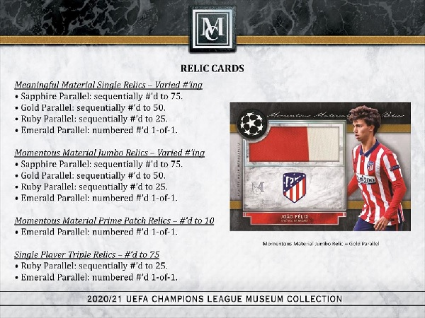 2020/21 UEFA CHAMPIONS LEAGUE MUSEUM COLLECTION