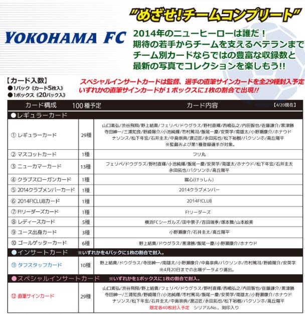 2014 Jリーグ カード チームエディション・メモラビリア 横浜FC BOX