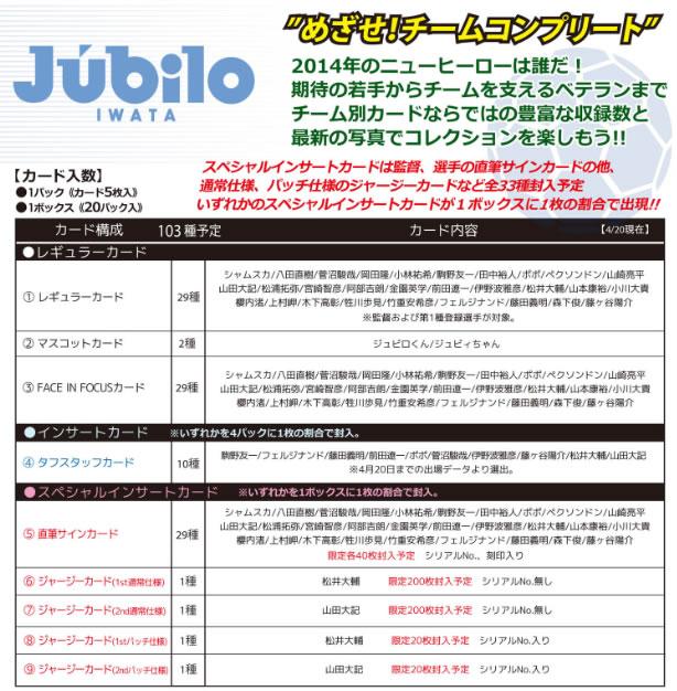 2014 Jリーグ カード チームエディション・メモラビリア ジュビロ磐田 BOX