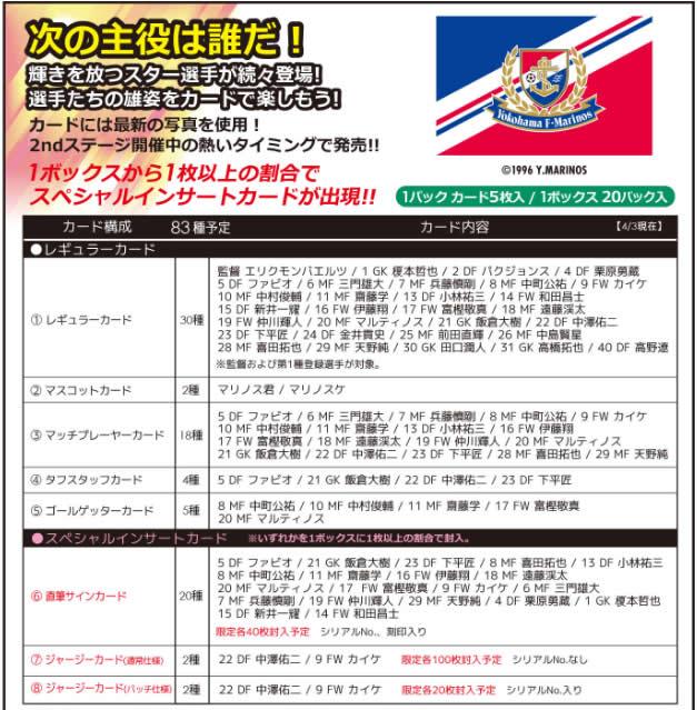 2016 Jリーグ カード チームエディション・メモラビリア 横浜 F・マリノス BOX