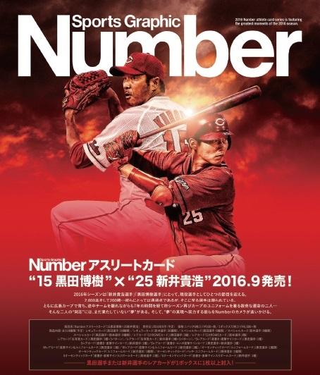 "Numberアスリートカード""15黒田博樹""×""25新井貴浩""BOX"