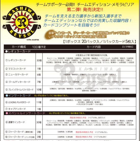 2011 Jリーグ カード チームエディション・メモラビリア 柏レイソル