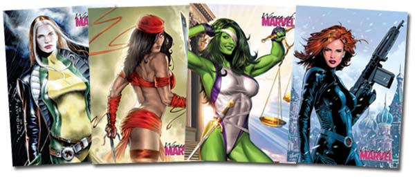 THE WOMEN OF MARVEL TRADING CARDS
