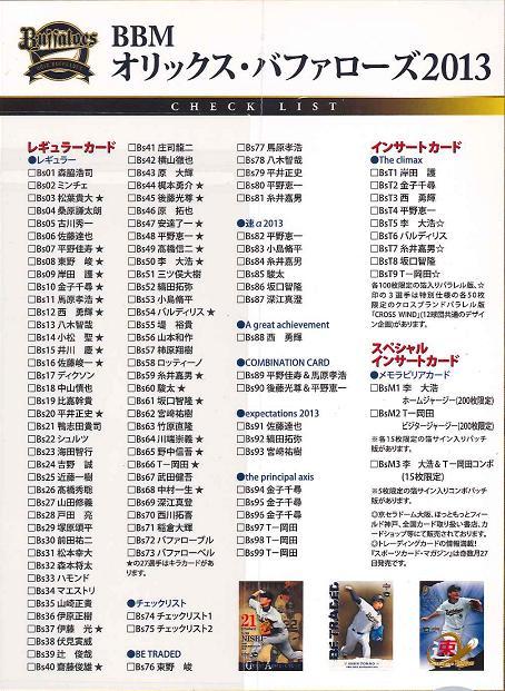 BBM オリックス・バファローズ 2013 BOX