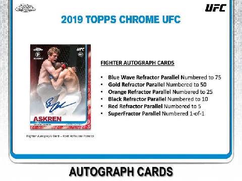 2019 TOPPS UFC CHROME BOX