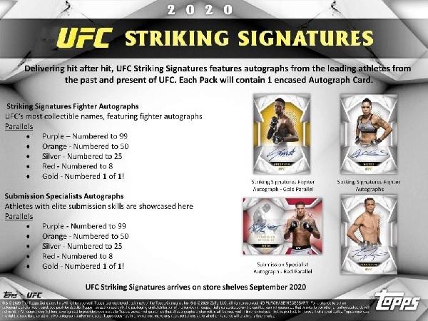 2020 TOPPS UFC STRIKING SIGNATURES