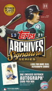 MLB 2021 TOPPS ARCHIVES SIGNATURE SERIES RETIRED PLAYER EDITION(送料無料)