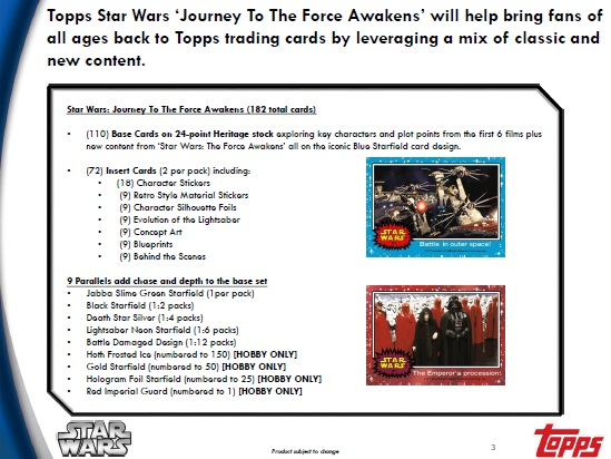 TOPPS STAR WARS JOURNEY TO THE FORCE AWAKENS BOX