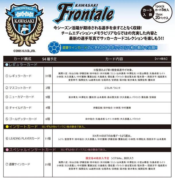 ■セール■2013 Jリーグ カード チームエディション・メモラビリア 川崎フロンターレ BOX