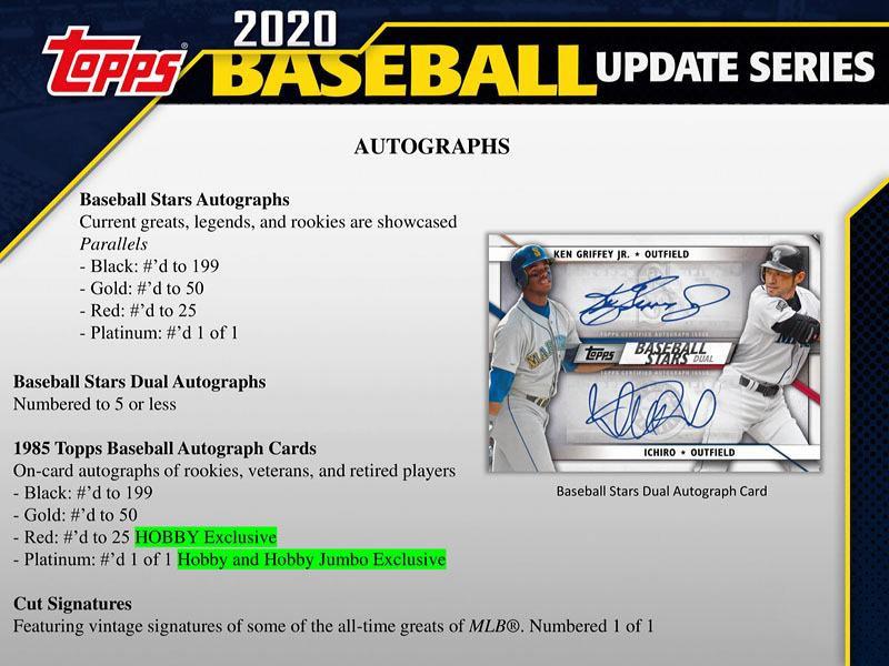 MLB 2020 TOPPS UPDATE BASEBALL JUMBO BOX