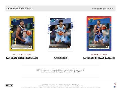 NBA 2020/21 PANINI DONRUSS BASKETBALL FATPACK BOX