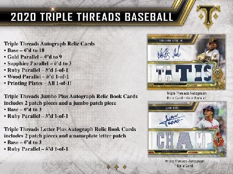 MLB 2020 TOPPS TRIPLE THREADS BASEBALL BOX