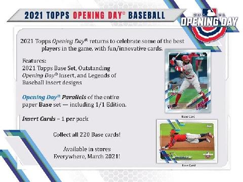 MLB 2021 TOPPS OPENING DAY BASEBALL BOX