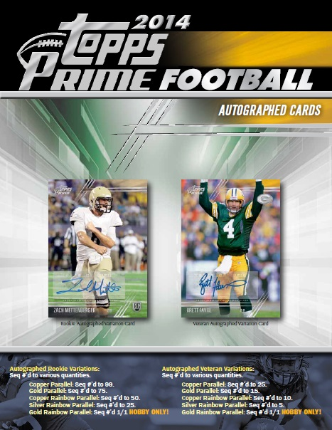 ■セール■NFL 2014 TOPPS PRIME FOOTBALL BOX