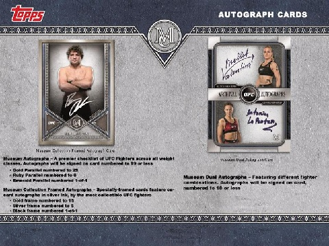 UFC 2019 TOPPS MUSEUM COLLECTION (送料無料)