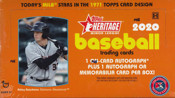 MLB 2020 TOPPS HERITAGE MINOR  BASEBALL BOX