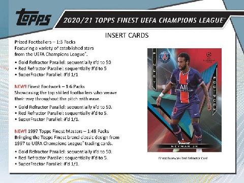 2020/21 TOPPS FINEST UEFA CHAMPIONS LEAGUE BOX(送料無料)