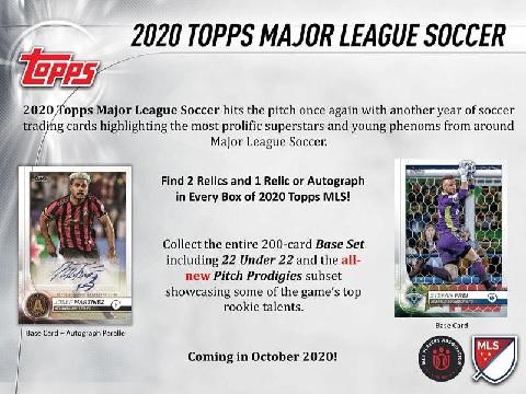 2020 TOPPS MLS SOCCER BOX