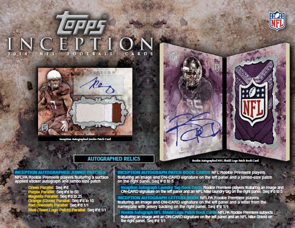 NFL 2014 TOPPS INCEPTION FOOTBALL BOX