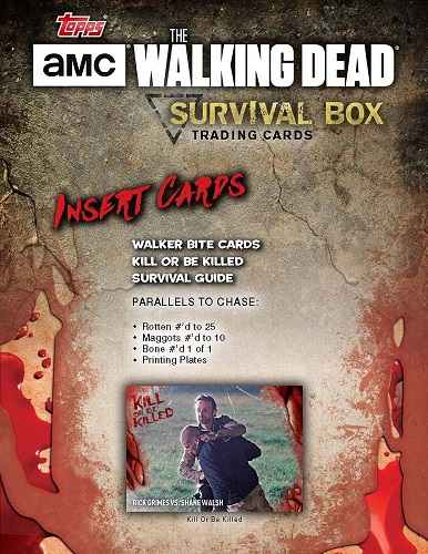 2016 TOPPS THE WALKING DEAD SURVIVAL BOX(送料無料)