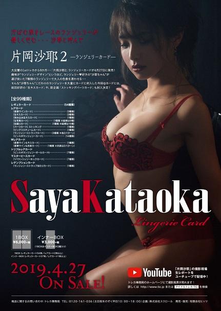 片岡沙耶2-ランジェリーカード- BOX■特価カートン(20箱入)■(BOX特典付)
