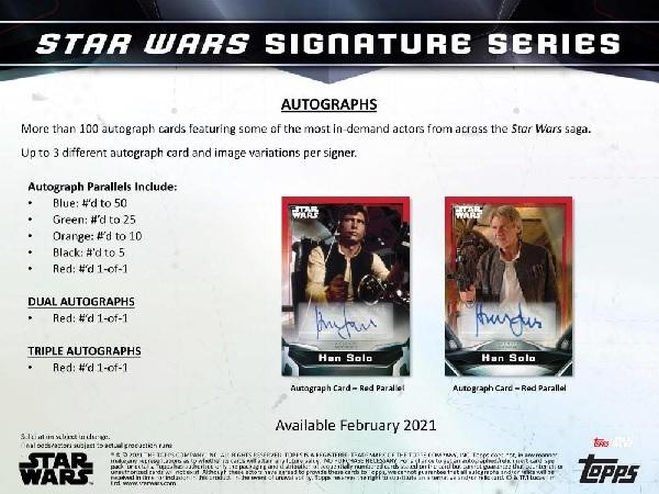 2021 TOPPS STAR WARS SIGNATURE SERIES HOBBY(送料無料)