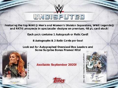 WWE 2020 TOPPS UNDISPUTED BOX