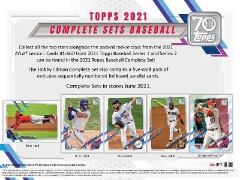 MLB 2021 TOPPS BASEBALL COMPLETE SET HOBBY (送料無料)