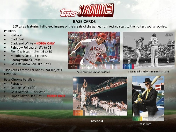 MLB 2020 TOPPS STADIUM CLUB BASEBALL HOBBY BOX