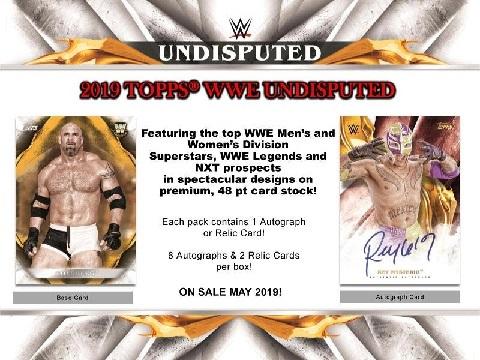 2019 TOPPS WWE UNDISPUTED WRESTLING BOX